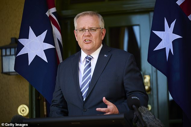 Softball lob: During Koch's interview with Mr Morrison (pictured on October 7) the prime minister criticised ICAC seemingly without any pushback from Koch