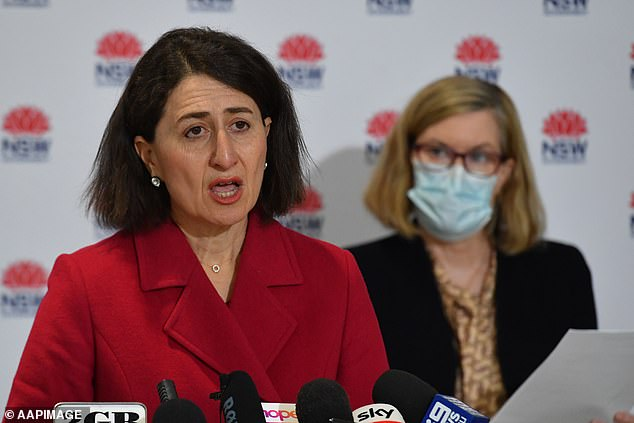 Gone girl: The state's corruption watchdog last month disclosed Ms Berejiklian was being investigated for potential breaches of public trust. Gladys Berejiklian (L) pictured here in July