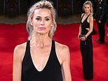 Laura Bailey exudes elegance in a plunging black cut out gown at The Tender Bar premiere