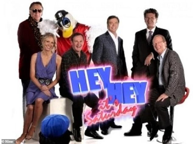 Missing in action: The 61-year-old comedian was a no-show at the beloved TV show's highly anticipated reunion, despite many of his former co-stars turning out for it. Pictured third from left with hisHey Hey It's Saturday co-stars