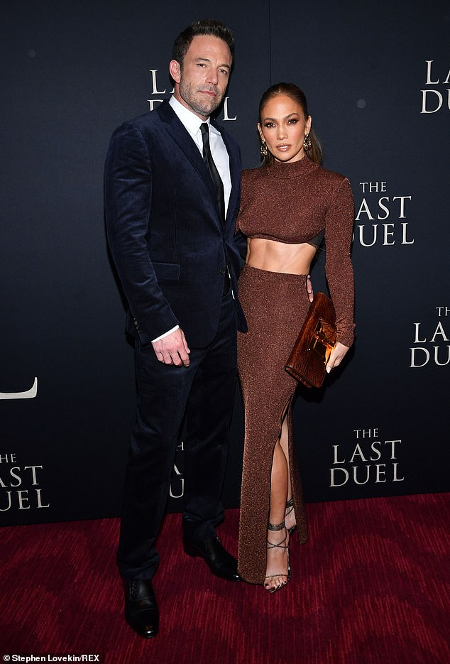 Together again:The two were seen leaving their hotel a day after they walked the red carpet at Lincoln Center for the premiere of Ben's new historical drama The Last Duel