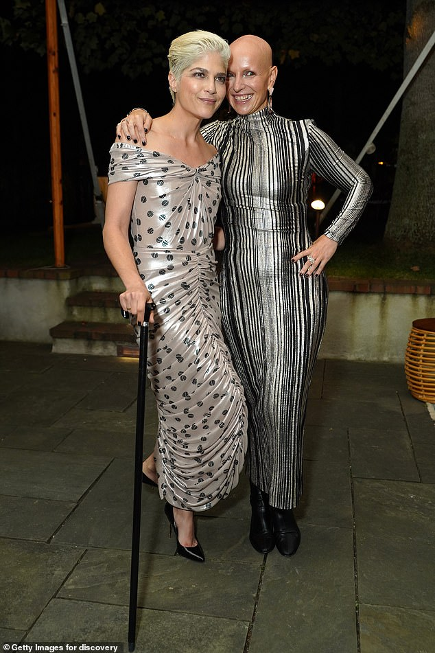 Fashionistas: Blair and Fleit showed off their second ensembles of the evening, side-by-side