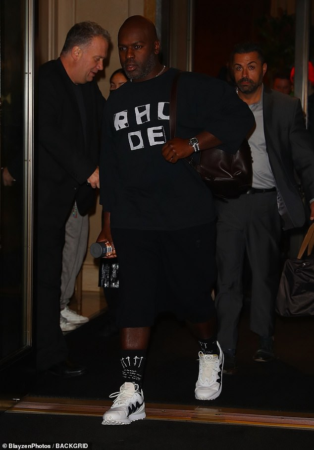 Companion: Nearby Jenner's long-term boyfriend Corey Gamble was also spotted with the E! TV stars