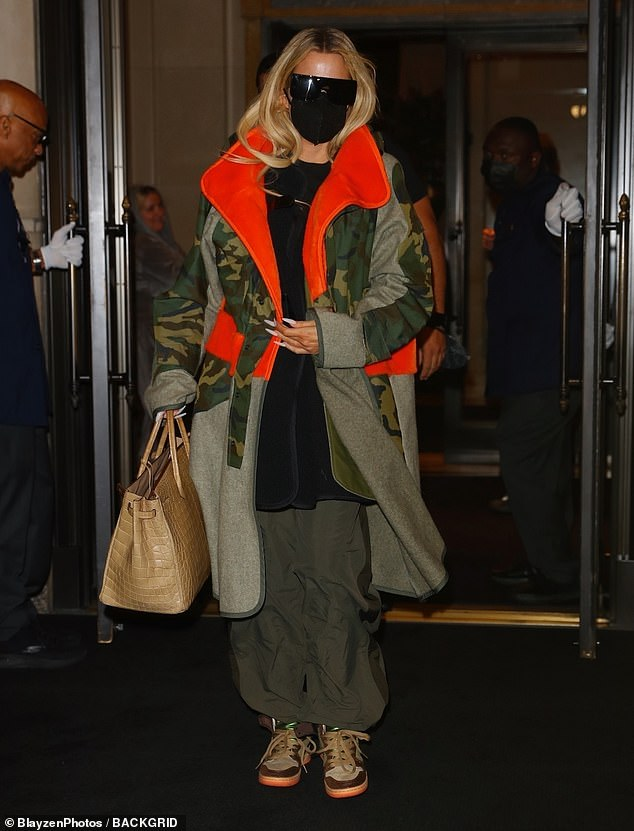 Headed home: Khloe Kardashian and mom Kris Jenner were seen exiting a New York City hotel as they got ready to board a plane back to the west coast