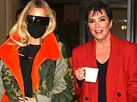 Khloe Kardashian and Kris Jenner leave New York City after supporting Kim at Saturday Night Live