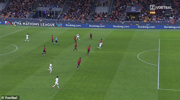 Mbappe scored the goal after Theo Hernandez played the ball in behind the Spanish defence. However, he was clearly offside before slotting it under goalkeeper Unai Simon
