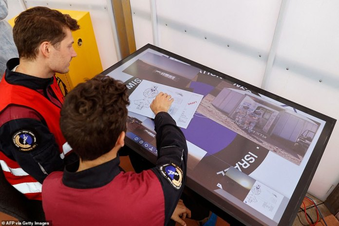 The crew, including Commander Joao Lusada (pictured left), will investigate all aspects of life in a Mars-like setup.