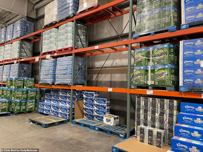 FLORIDA: A Costco in Fort Myers had run out of some brands of toilet paper and paper towels on Sunday. Staff in other stores were limiting shoppers on how much they could buy of one product