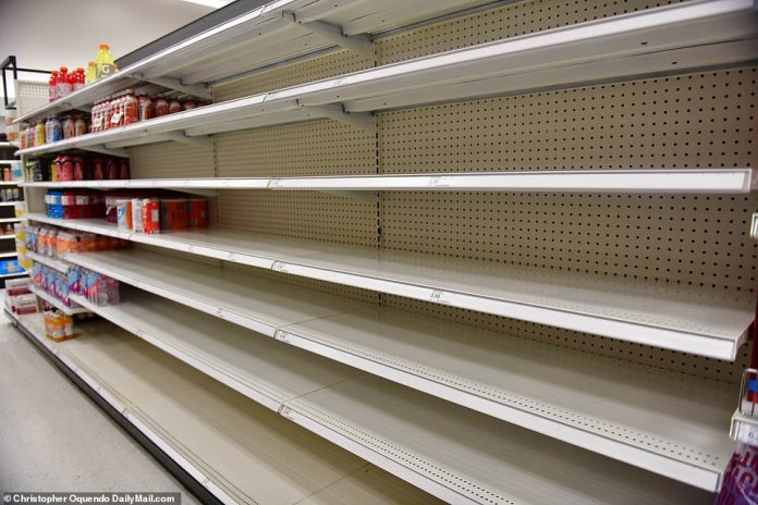 GEORGIA: The drinks section at a Target in Atlanta, Georgia, on Sunday October 10 as the supply chain issues presented themselves in stores