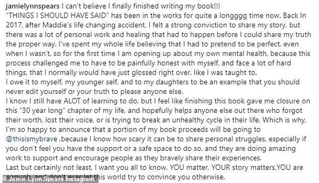 , Jamie Lynn Spears won't call memoir I Must Confess after backlash over using sister Britney's lyrics, The Evepost National News