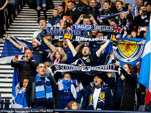 The Tartan Army were in full voice and saw their side snatch a late winner in added time