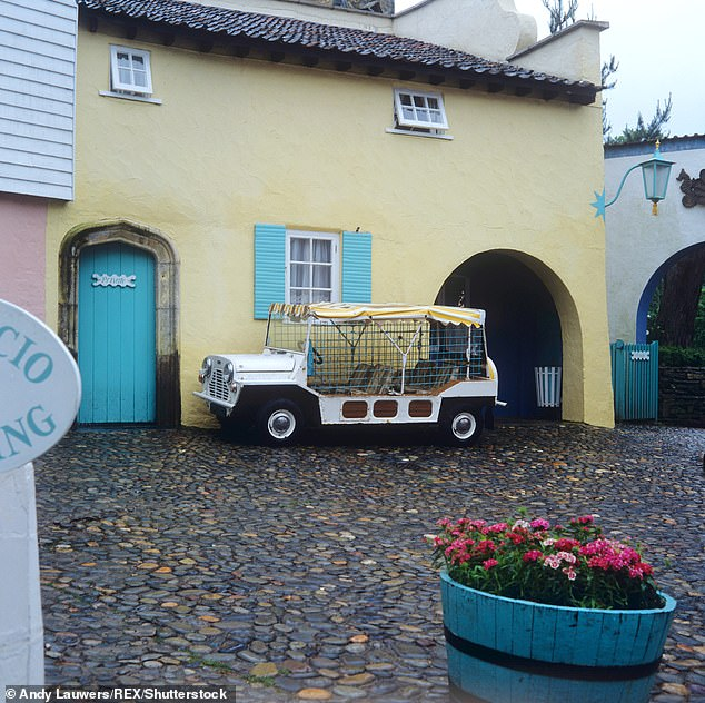 The Mini Moke first hit the market in the 1960s as a recreational vehicle after failed attempts to market it to the British army as a lightweight military vehicle - though this is the most famed example of all thanks to it appearing in The Prison, filmed inPortmeirion, Wales (pictured)