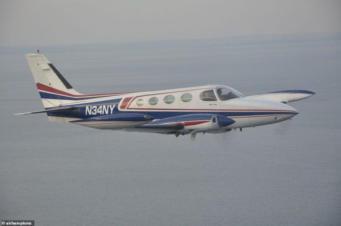 The above image is a file photo of a Cessna 340 of the type which crashed on Monday near San Diego