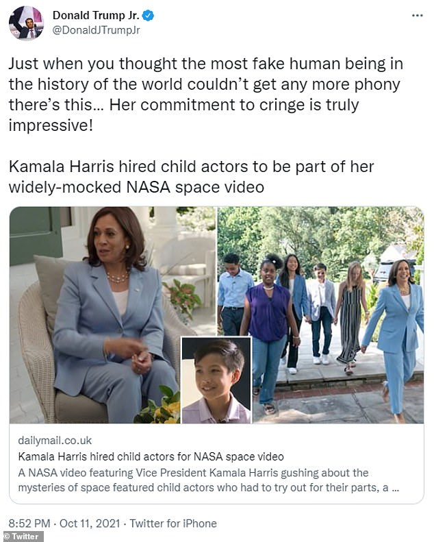 , Kamala's office WON'T say whether they knew kids in YouTube space video were child actors, The Today News USA