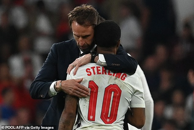 Sterling was named in Gareth Southgate's England XI for this evening's World Cup qualifiers