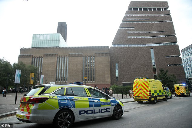 Police were called to the Tate Modern in 2019 after the boy was thrown from the 10th floor