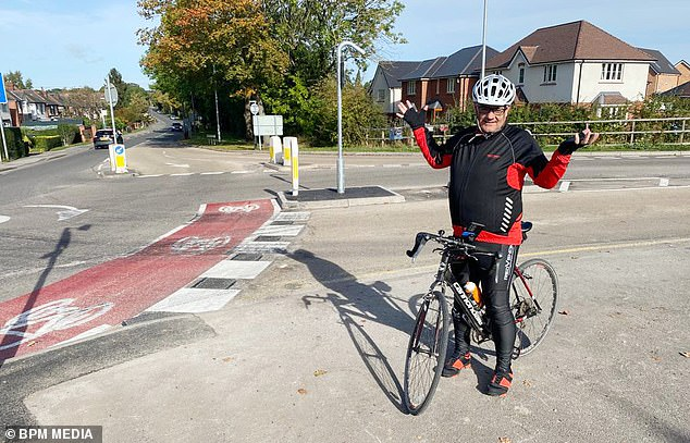 Richard MacRae (above), independent councillor for Stapleford North on Broxtowe Borough Council, popped on his bike to give it a whirl