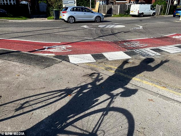 The lane was installed by Nottinghamshire County Council to encourage green transport but has instead caused an angry backlash