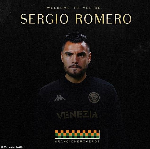 Sergio Romero has joined Italian side Venezia on a free transfer until the end of the season