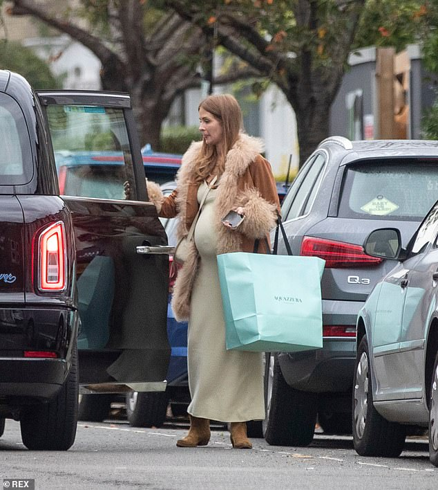 , Pregnant Millie Mackintosh shows off bump in figure-hugging cream dress, The Today News USA