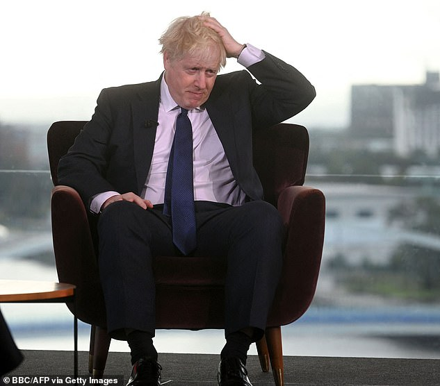 Mr Marr accused the PM of behaving more like ex-Labour premier Harold Wilson than Margaret Thatcher, to which Mr Johnson said: 'You're talking total nonsense'