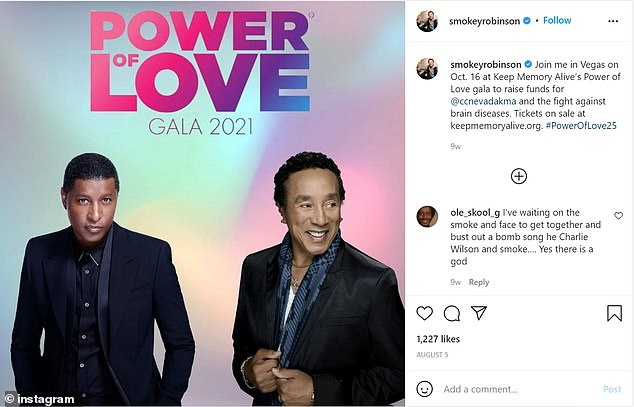 Robinson spoke exclusively ahead of being honored along with Kenny 'Babyface' Edmonds at Keep Memory Alive's 25th annual Power of Love gala at Resorts World Las Vegas on Saturday, October 16