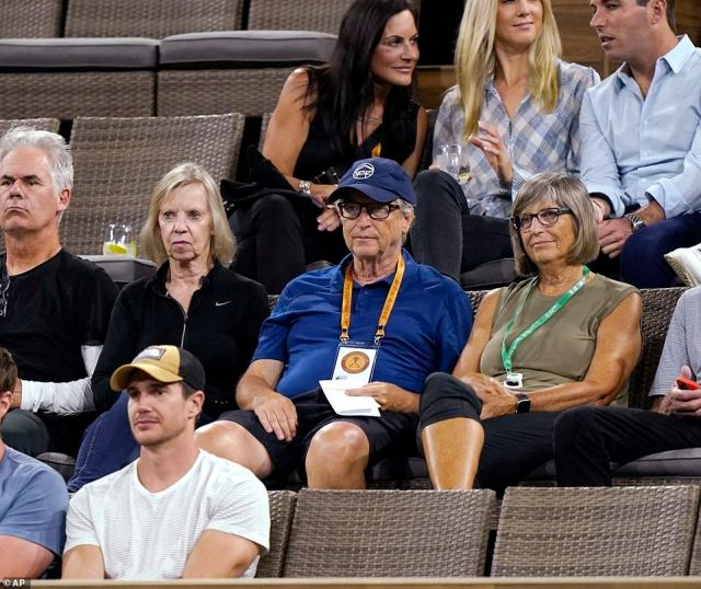 He attended another match the following day between Pedro Martinez, of Spain, and Stefanos Tsitsipas, of Greece