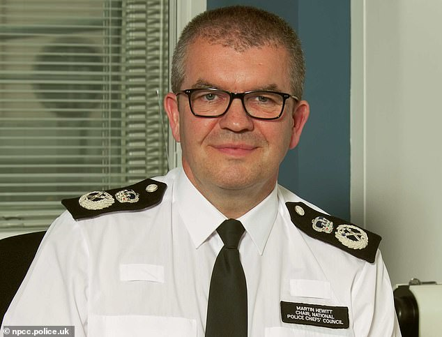 Martin Hewitt, chairman of the National Police Chiefs Council, said police bosses were doing 'everything that we can' to investigate violence against women and girls