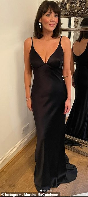 , Martine McCutcheon puts on a busty display in a plunging black silk gown at a charity gala, The Today News USA
