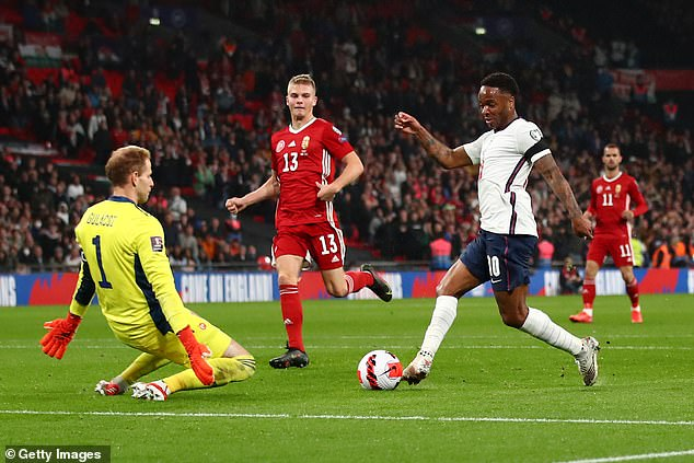 Raheem Sterling missed the chance to slide England ahead as along with Kane and Grealish he was substituted during the second half against Hungary