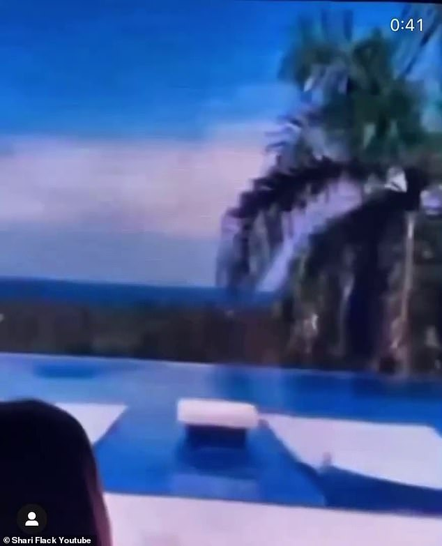 Only the best:During the bash at Los Angeles' River Studios, Offset shared a video on a large screen of the abode in the Dominican Republic