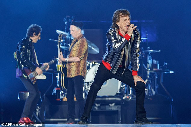 Jagger, Richards and Wood are seen on stage on September 26 in St Louis, on the first night of their U.S. tour