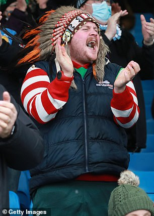Exeter fans show their support as they return to the stadium in December last year