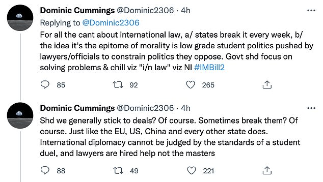 , Dominic Cummings says government never intended to stick to Brexit deal it signed, The Today News USA