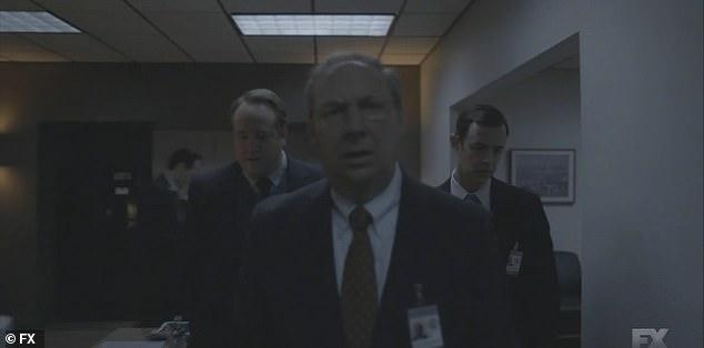 Starr:Kenneth Starr (Dan Bakkedahl) tells Emmick and Jackie Bennett (Darren Goldstein) that their jurisdiction has been broadened to include Monica Lewinsky