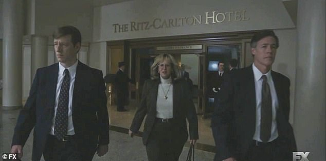 Agents:She walks with the agents out of the Ritz Carlton and into the food court, as the agents tell her she doesn't have to say anything to Monica