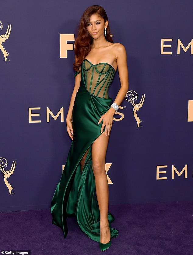 Keeping it real: Zendaya reminisced about wearing clothing from Target at her first movie premiere during a recent interview with InStyle; she is seen at the71st Emmy Awards in 2019