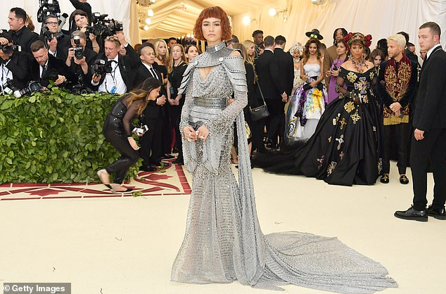 Looking to the future: Zendaya concluded the sit-down by expressing that, although she turned 25 last month, she felt 'like I just started my 20s'; she is seen in 2018