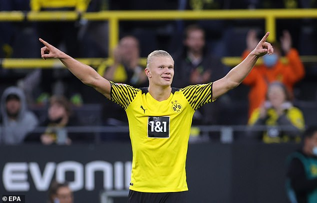 The 21-year-old Haaland will be available for £64million at Dortmund next summer