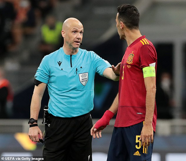 Busquets (right) said VAR's decision to let the goal stand in the final 'didn't make sense'