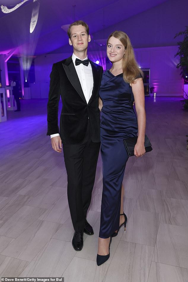Happy couple: Flora posed alongside her dapper husband Timothy Vesterberg