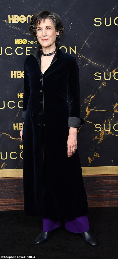 Velvet: Actresses Harriet Walter and Talia Balsam kept the velvet trend going in rivaling suit jackets with black lapels