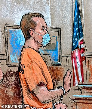 Jonathan (pictured) and Diana Toebbe were both charged with spying on the U.S. for an unidentified foreign government were ordered held without bail during a court appearance Tuesday after it was determined that they pose a 'serious risk' of flight