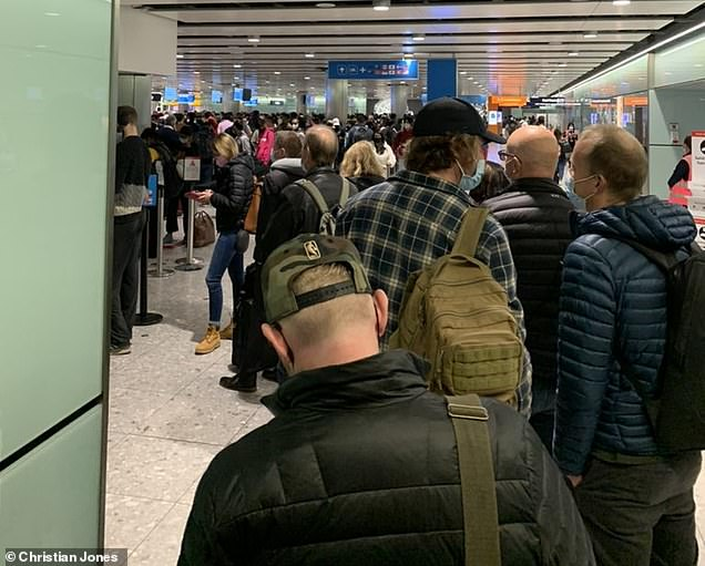 Passengers posted pictures of huge queues on Twitter last week on Wednesday, with one passenger estimated to have waited at immigration for over a thousand, while another reported expected wait times of anywhere between two and four hours .