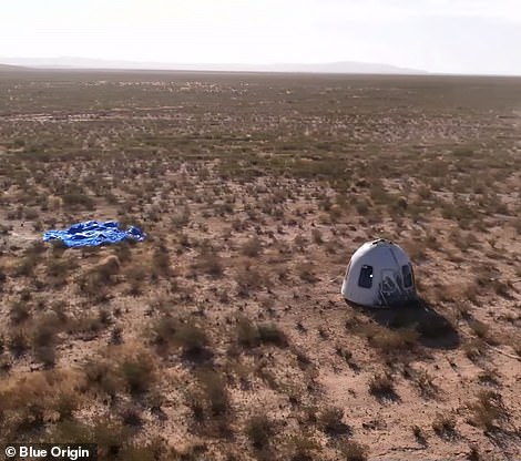 Capsule makes perfect landing for Blue Origin's second manned flight