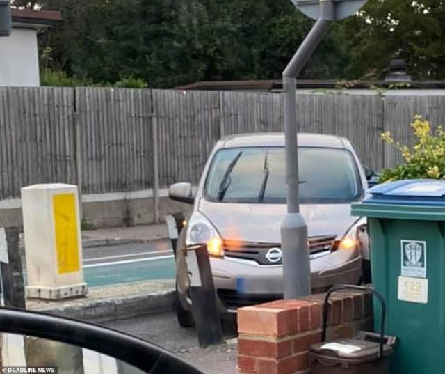 Video clips show multiple vehicles crashing into the steel bollards in Woodmere Avenue, Watford