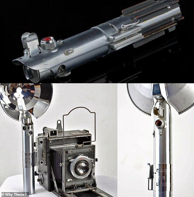 The hilts of the original lightsaber where designed by Roger Christian, who crafted the weapon out of 1930's-era Graflex camera flash handles