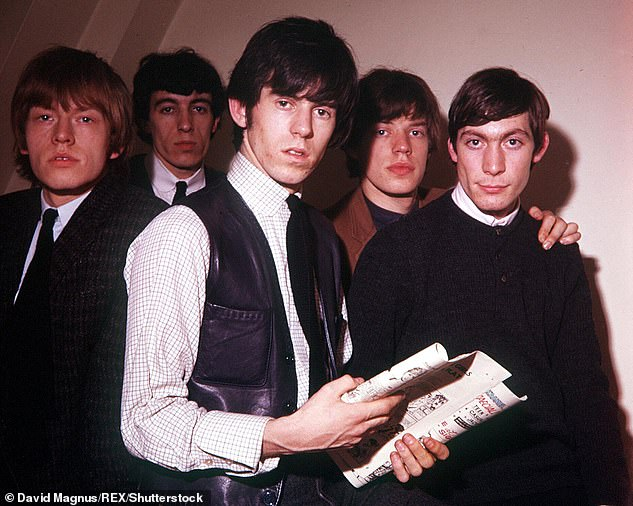 The two groups first met after The Beatles had seen the Stones (pictured in 1964) at a small club in Richmond, South-West London, in 1963