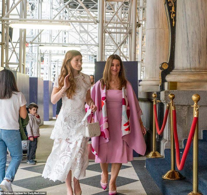 Jennifer and Melinda were seen walking into the Plaza Hotel on Wednesday