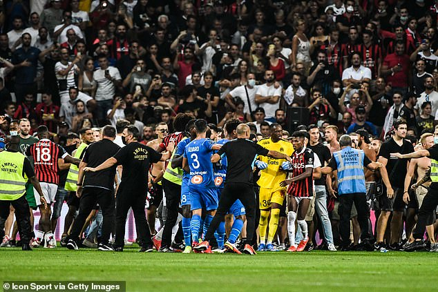 Club football is not immune - in France, Marseille and Nice's game in August was tainted